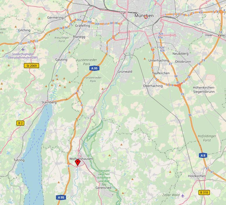 BüroCenter Wolfratshausen: südlich von München