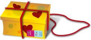 Geschenk mit Herz verschnüren